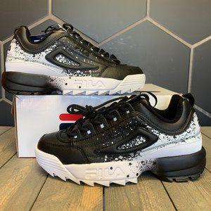 Fila Disruptor II Splatter Black White Sneaker